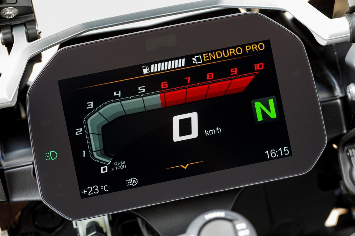صفحه نمایش موتورسیکلت BMW 1250 GS