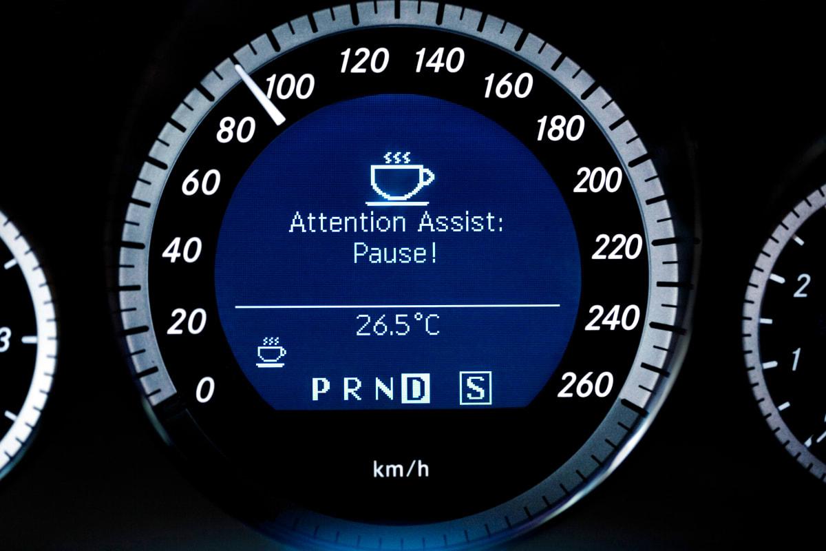Müdigkeitserkennung wird in Display angezeigt