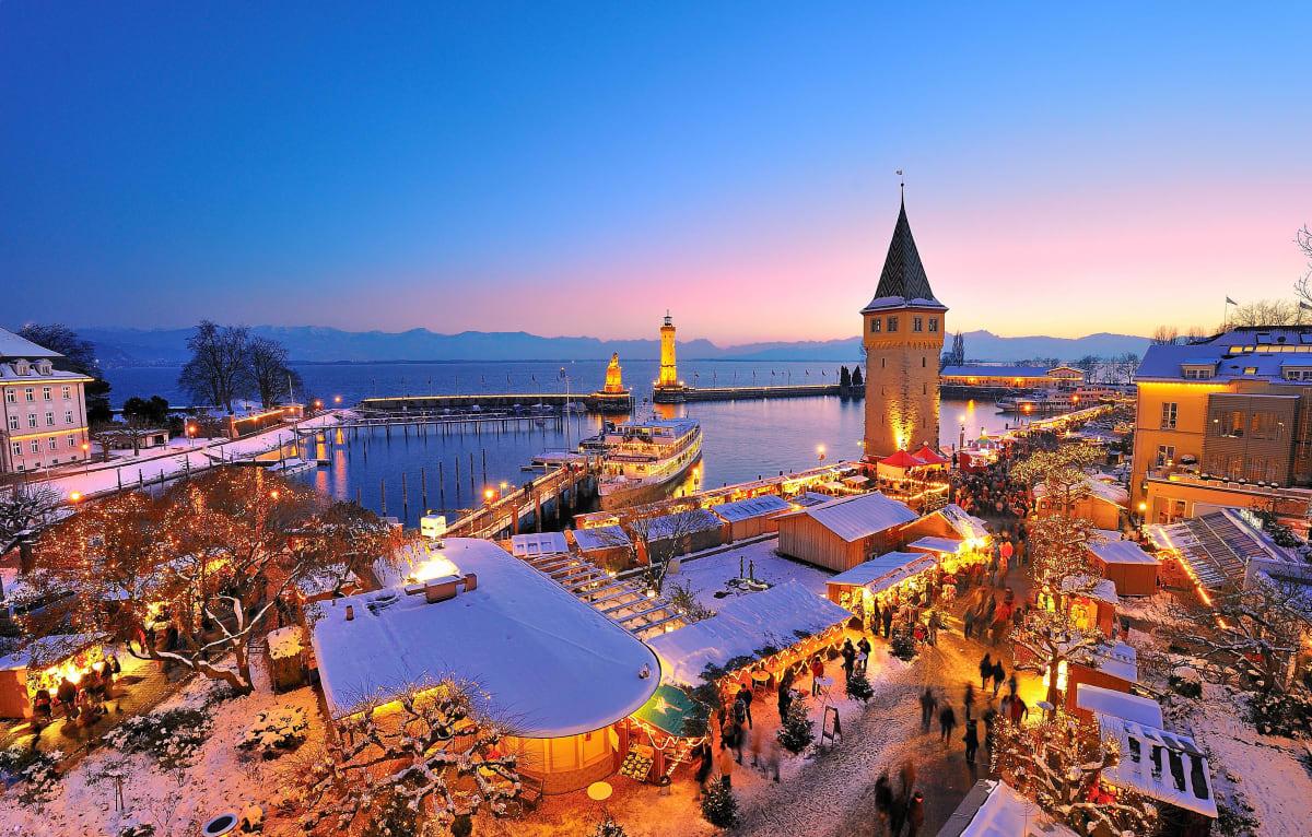 Übersicht über die Lindauer Hafenweihnacht